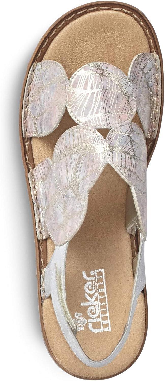 Sandales Rieker Spin pour femme Rose Multicolore