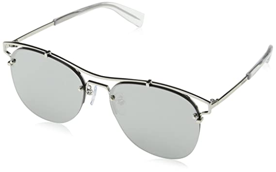 3baa81a76fe1f Image Unavailable. Image not available for. Color  Furla Women s SFU106 SFU  106 579X Silver Fashion Pilot Sunglasses 56mm