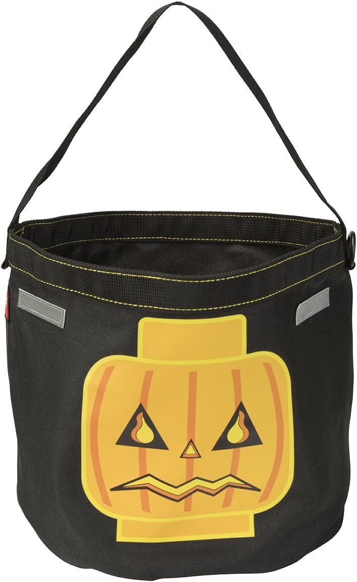 LEGO Kids Jack O Lantern Halloween Tote, Black