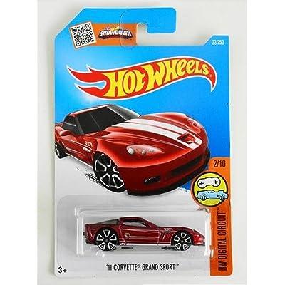 Hot Wheels, 2016 HW Digital Circuit, '11 Corvette Grand Sport [Maroon] Treasure Hunt #22/250: Toys & Games