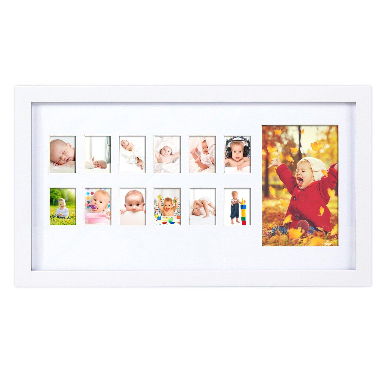 Portaretratos del primer año de vida de un bebé de Jollie Rodney, con las fotos del primer año: Amazon.es: Bebé