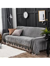 plush sofa vintage lace suede couch cover antislip furniture