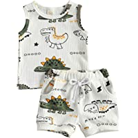 Baby Boy Shorts Set Tank Top Sleeveless Vest & Shorts Casual Outfit 2Pcs Toddler Infant Summer Clothes Sets