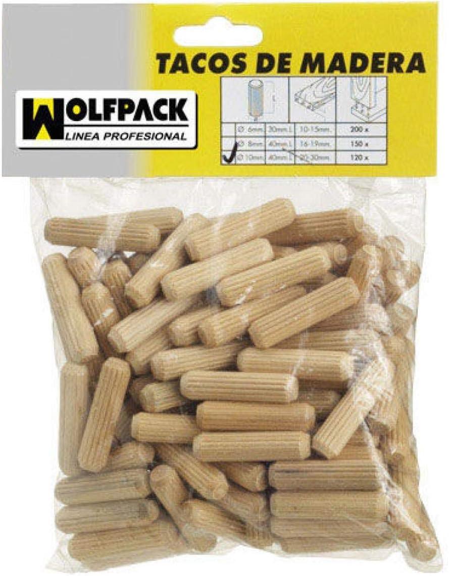 Wolfpack 13103500-Set di 50 spighe in legno 6 x 30 mm