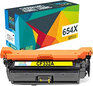 Do it Wiser Compatible Toner Cartridge Replacement for HP 654A CF332A for use in HP Laserjet M651 M651N M651DN M651XH (Yellow)