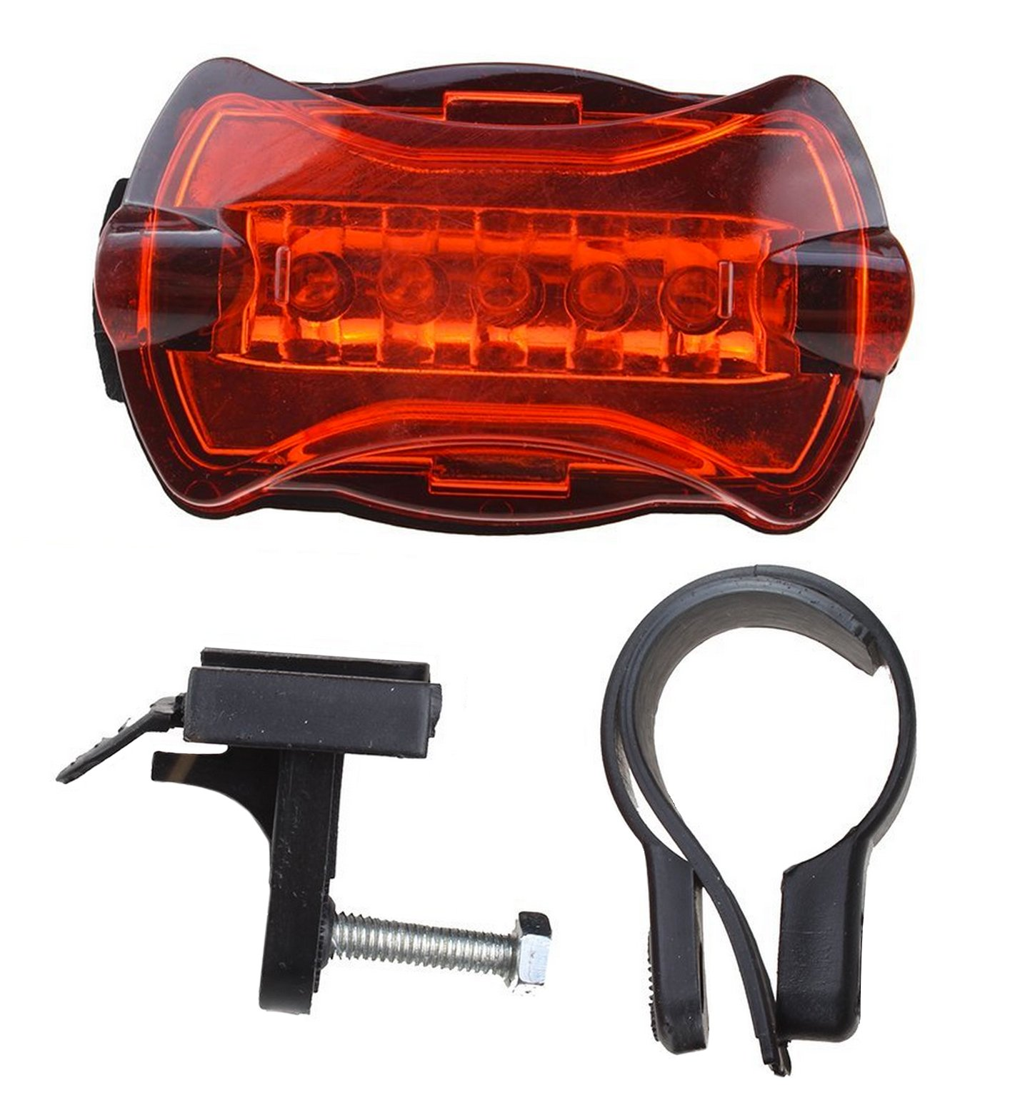 LED BIKE LIGHT SET. Bicycle headlight & taillight combo. Ultrabright 5 LED kit.. Use on bike or scooter. FREE high visibility reflectors. ~ In BG Lights gift box as pictured by BoG Products (Image #9)