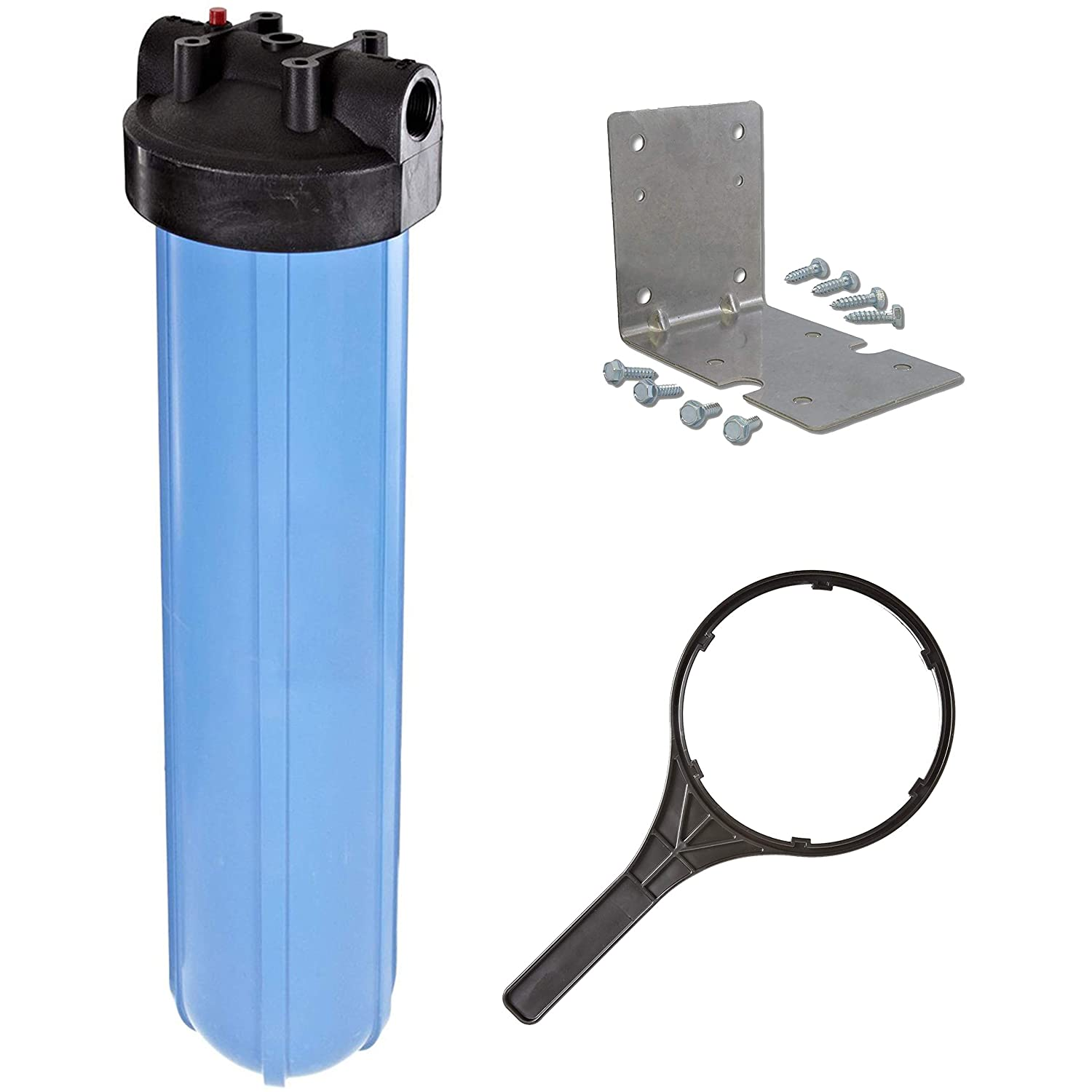 """Pentek 1"""" Threaded 20"""" Genuine Big Blue Filter Housing Kit 