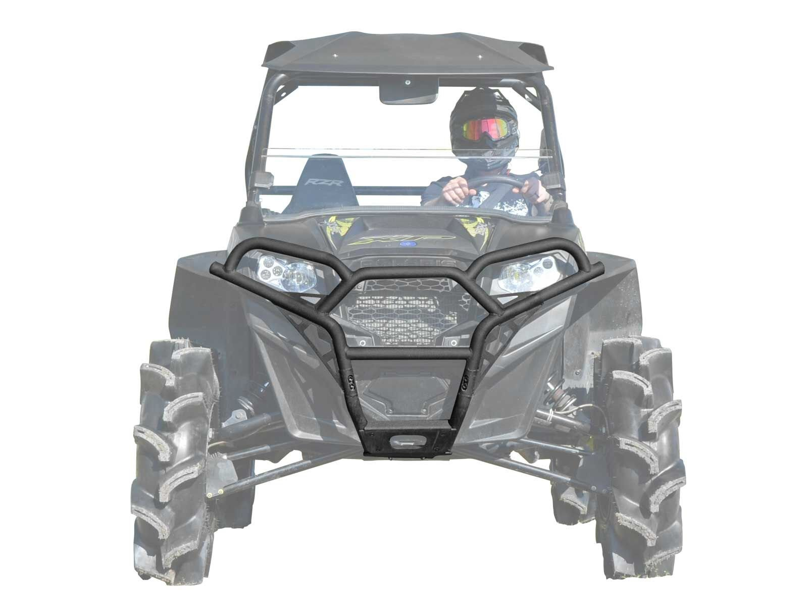 SuperATV Polaris RZR / RZR 800 / RZR 800 S / RZR XP 900 / RZR 570 / RZR XP 4 900 Sport Front Brush Guard Bumper - Wrinkle Black by SuperATV.com