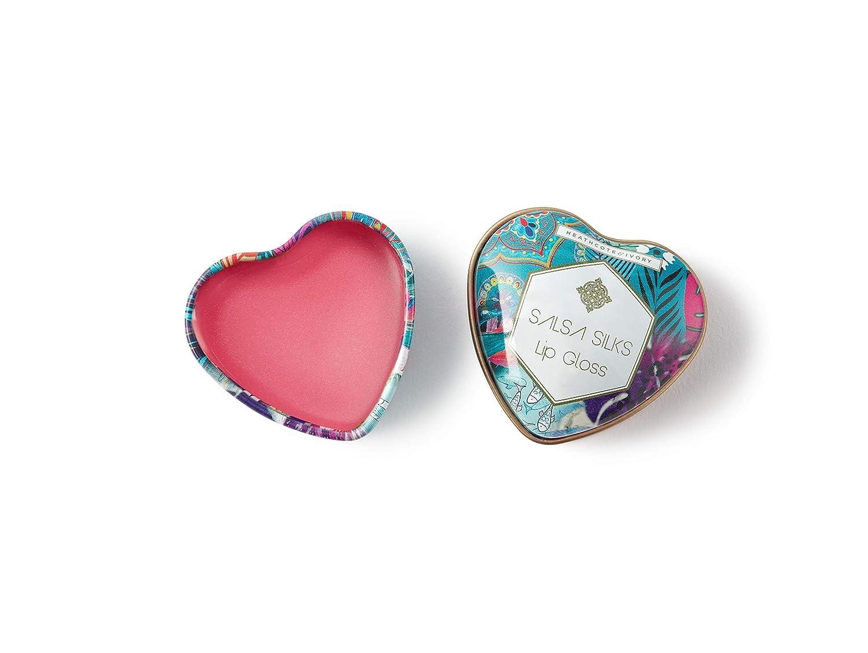 Heathcote & Ivory Salsa Silks Lip Gloss In Heart Shaped Tin 14g FG3415