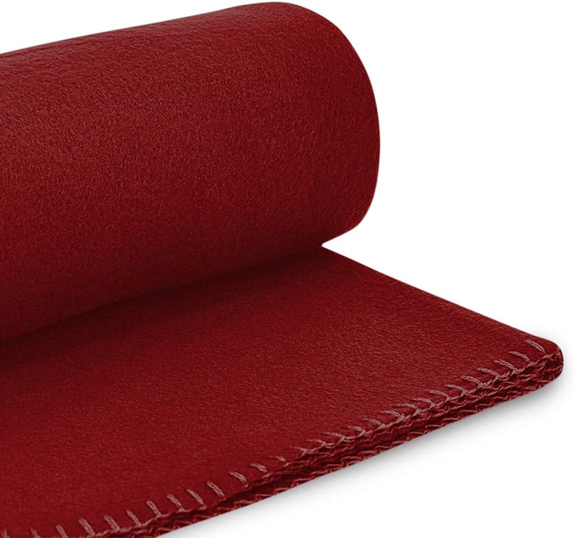 de 1,30 x 1,60 cm. Mantas de forro polar reversibles tela acogedoras 130 x 160 cm de 130 x 160 cm Wometo beige Juego de 2 mantas suaves y mullidas