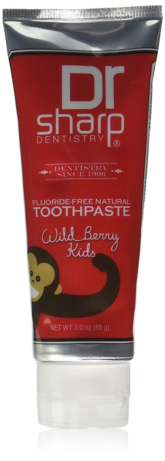 Dr. Sharp Natural Oral Care Toothpaste, Kids Wild Berry Fluoride Free, 3 Ounce