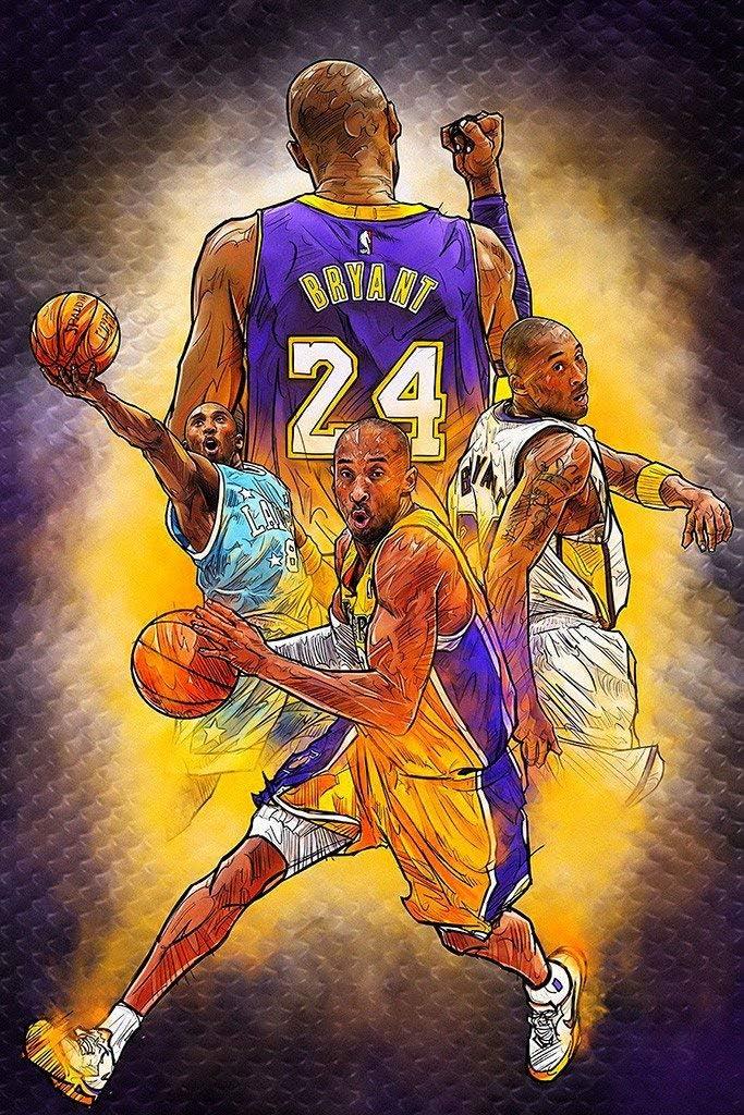 FoveroPoster Kobe Bryant - Póster de Baloncesto de la NBA (30,5 x ...
