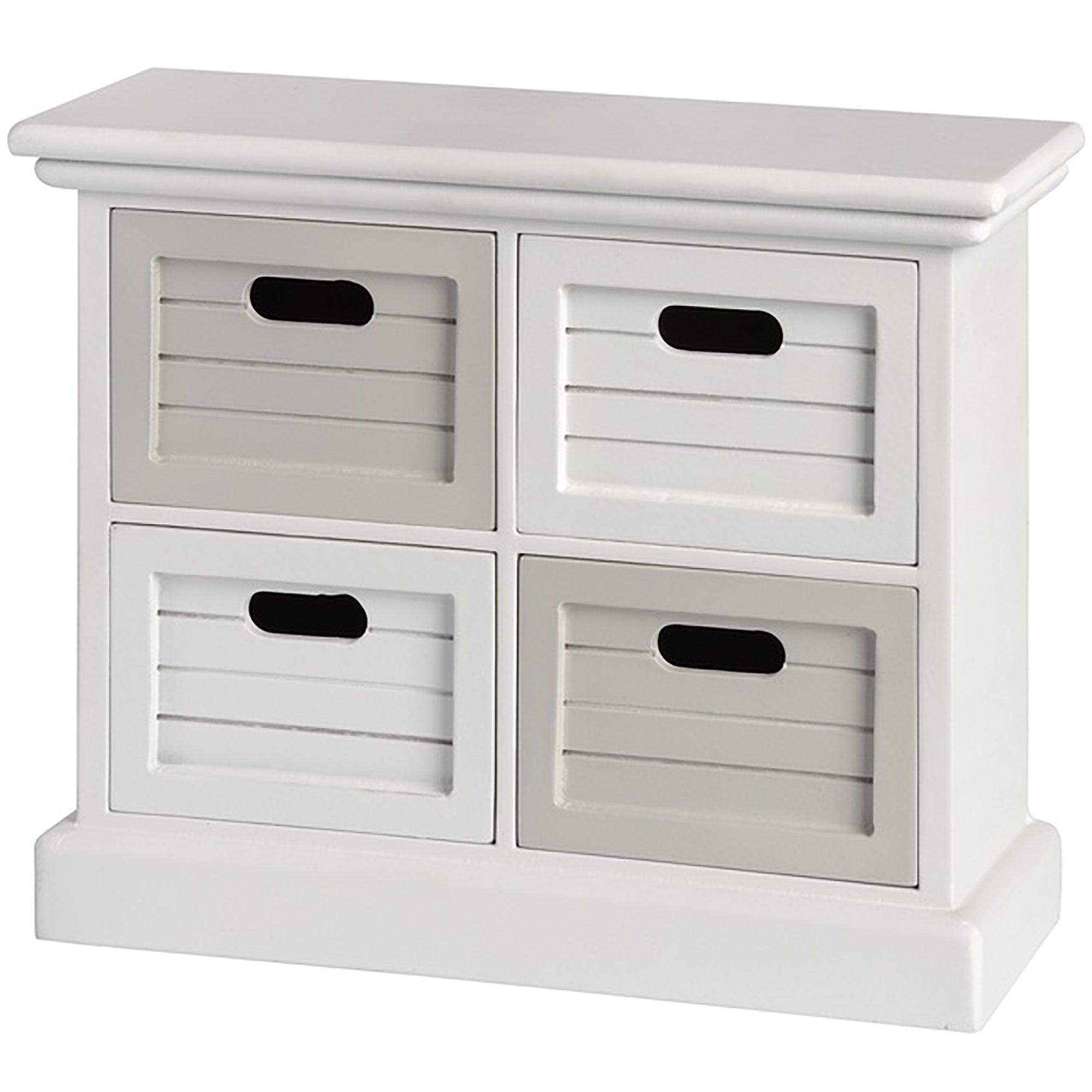 Hill Interiors White and Gray Multi Purpose Four Drawer Unit (One Size) (White/Gray)
