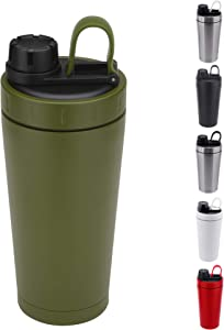 Stainless Steel Protein Shaker Bottle Insulated Keeps Hot/Cold Dishwasher Safe/Double Wall/Odor Resistant/Sweatproof/Leakproof/BPA Free 20 oz (Marine Green)
