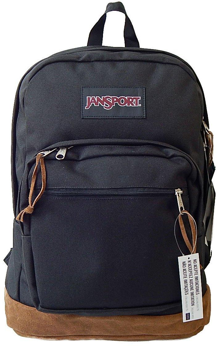 (ジャンスポーツ)JANSPORT ライトパック TYP7 RIGHT PACK リュック 黒 ブラック スエード底 レザーボトム[並行輸入品] B00ELQD4PW