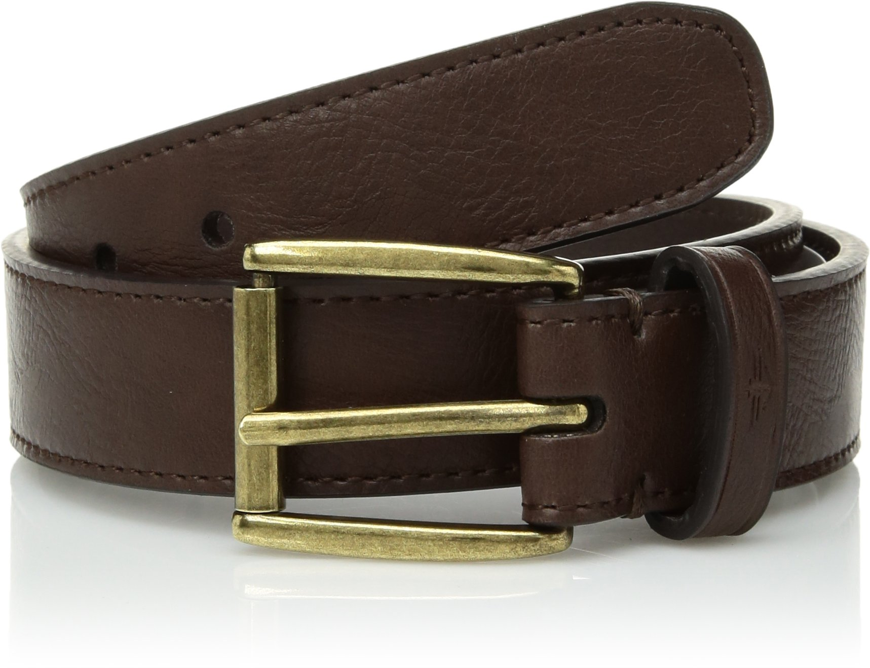 Dockers Big Boy's Casual Belt with Roller Buckle, brown, Small