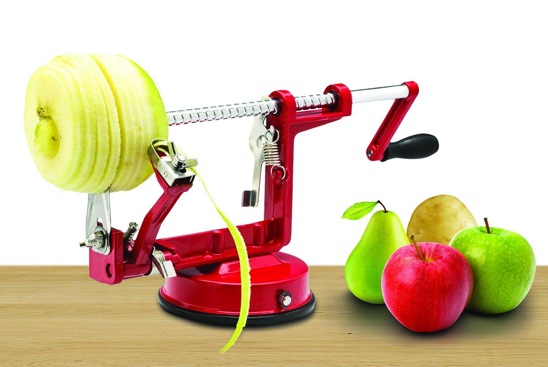 Magnesio fundido Apple/pelador de patatas por Spiralizer, resistente y duradera Apple/pelador de patatas descorazonador de aleación de magnesio de ...
