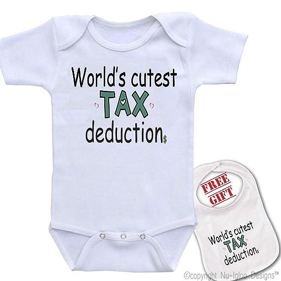 1f919f5cb09d1 Amazon.com: Igloo World's Cutest Tax Deduction Cute Unisex Baby ...