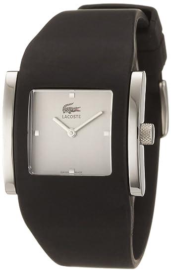 Lacoste 6300L 34 - Reloj analógico de mujer de cuarzo con correa de silicona negra