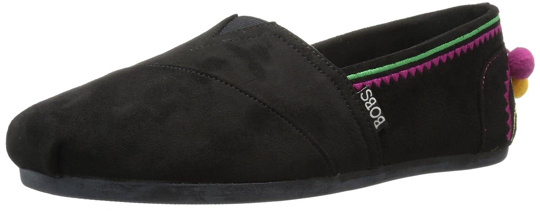 Skechers BOBS from Women's Bobs Plush-Lil Fiesta Ballet Flat B0734BBZQY 5 M US|Black