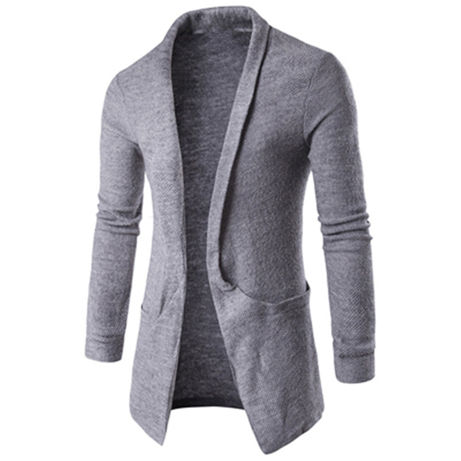 XUEXIASONG Mens Cardigan Sweaters Spring Long Sweaters Casual Knitted Sweater