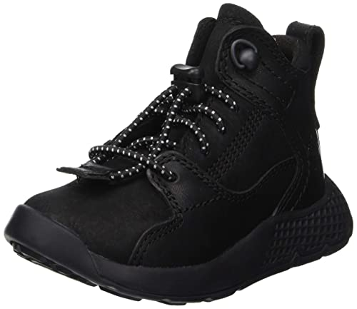 Timberland Kid s FlyRoam Leather Hiker Low Rise Hiking Boots Black Nubuck  P01 1647c7b963