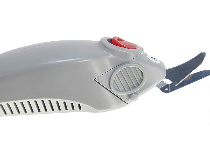 Tejido WBT-1 tijeras eléctricas tijeras de corte tijeras cortador de tela para máquina de cortar eléctrica portátil con una batería y un balde: Amazon.es: ...