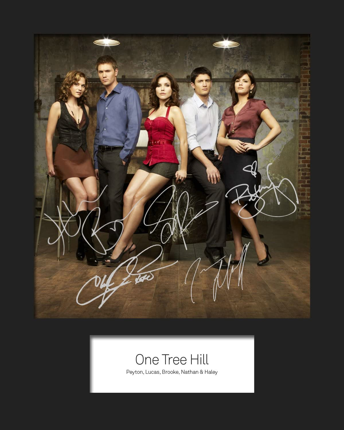ONE TREE HILL #1 Photo Display Machine Cut Signed Mounted Photo Reprint 10x8 Size to Fit 10x8 Inch Frames Present Gift Collectible