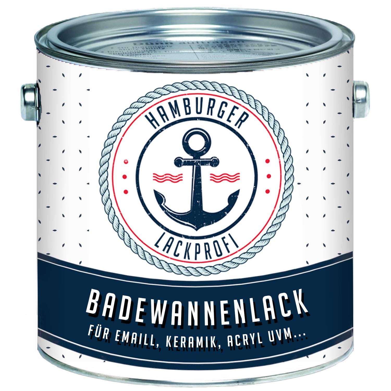Badewannenlack GLÄNZEND Weiß RAL 9010 Badewannenbeschichtung Emaille Farbe // Hamburger Lack-Profi (5 kg) Farben Löwe