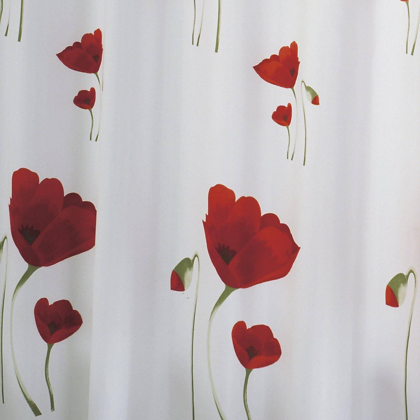 Ridder 478000-350 Tenda per Doccia Papavero in Tessuto 180x200 cm