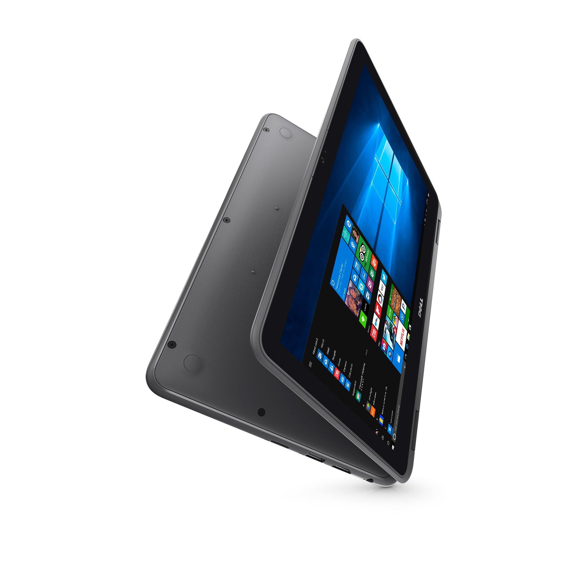 "2018 Dell Inspiron 11.6"" 2-in-1 Convertible HD Touchscreen Laptop - Intel Quad-Core Pentium N3710 1.6GHz, 4GB RAM, 500GB HDD, MaxxAudio, 802.11bgn, Webcam, Bluetooth, HDMI, Win 10"