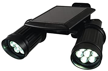 TV Werbung doble lámpara solar 7LED con detector de movimiento solar lámpara solar Foco