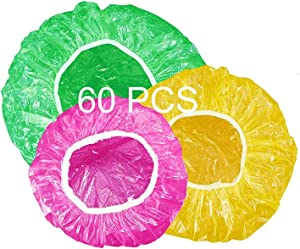 Reusable Food Storage Covers, Elastic Bowl Covers, Dish Plate Plastic Covers, Colorful, 3 Size 60 PCS