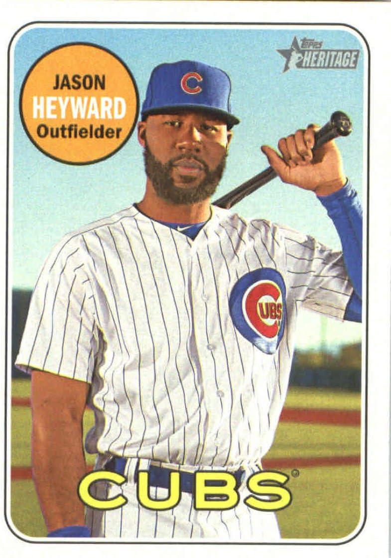 2018 Topps Heritage #368 Jason Heyward Chicago Cubs Baseball Card