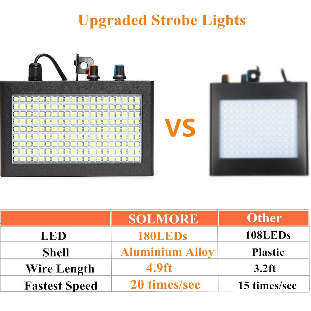 Strobe Lightsolmore 180leds 35w Party Lights Super Circuit Diagram Of High Brightness Led Bright Flash Stage Lighting Disco Dj Auto Sound Activated Adjustable Speed
