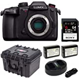 Panasonic GH5S Lumix C4K Mirrorless Camera with 64GB SD Card and Hard Case Bundle