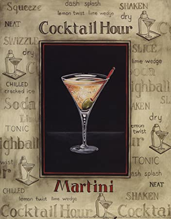amazon com martini mini by gregory gorham art print 8 x 10