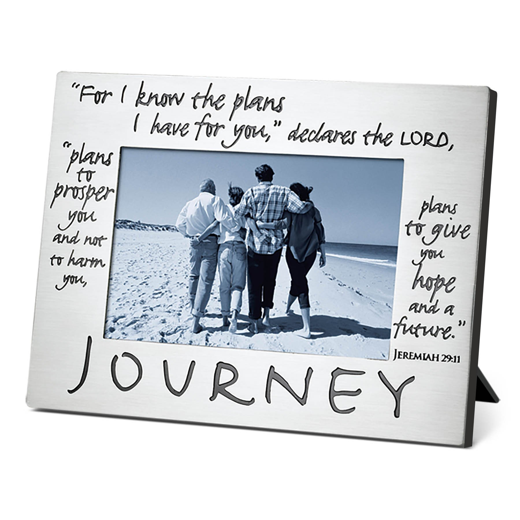 Lighthouse Christian Products Classic Metal Journey Frame, 4 x 6''