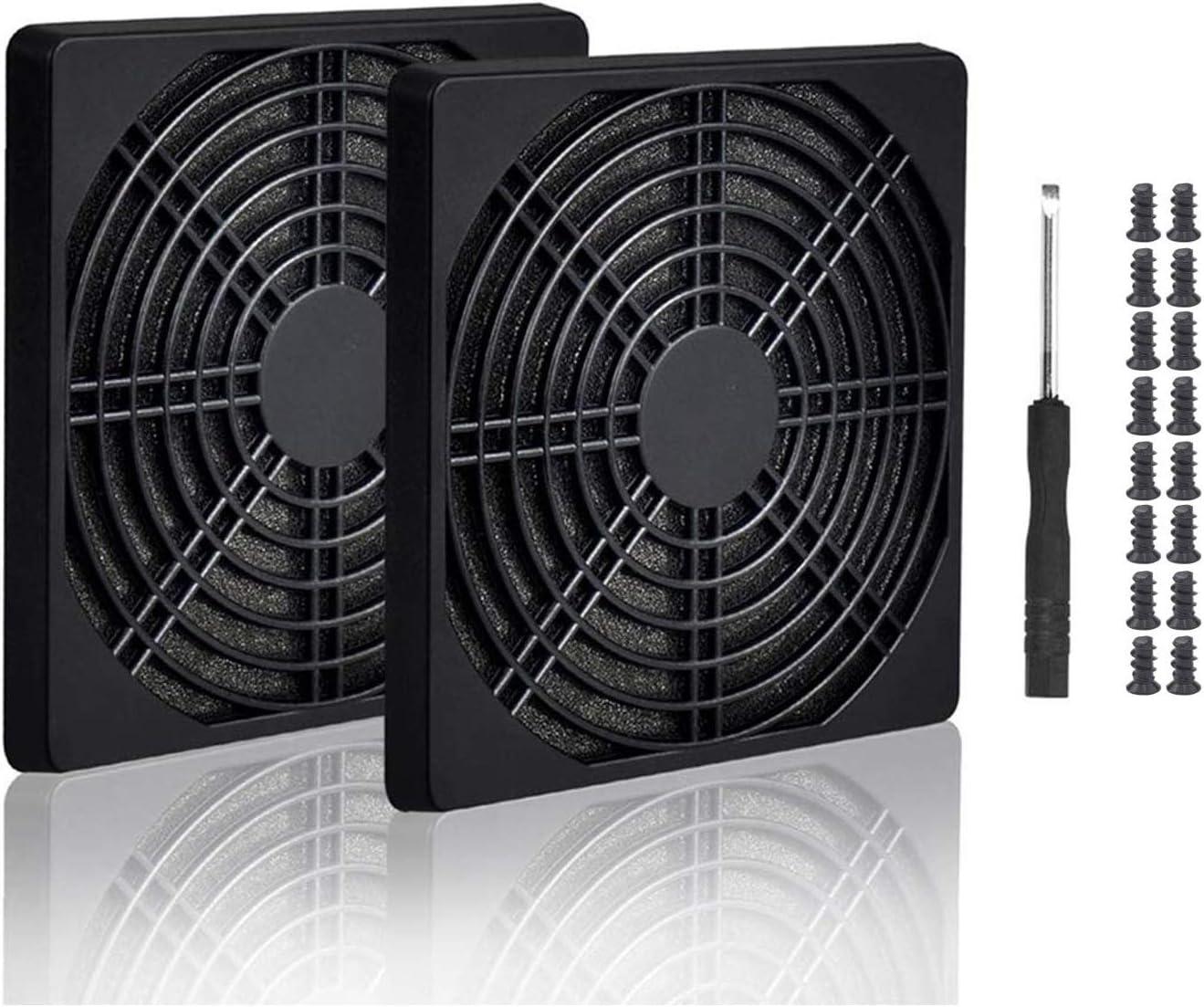 PC Cooler Fan Dust Filter Dustproof Case Cover 16PCS Dustproof Case Cover Dust Filter for PC Cooler Fan