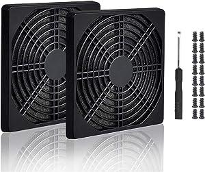 Easycargo 4pcs 120mm Fan Filter Grill Black with Screws (120mm)