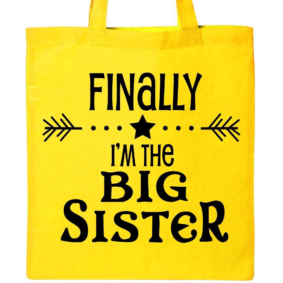 Inktastic – 最後にI ' m The Big Sisterトートバッグ One Size イエロー B077GJRZV6 イエロー イエロー