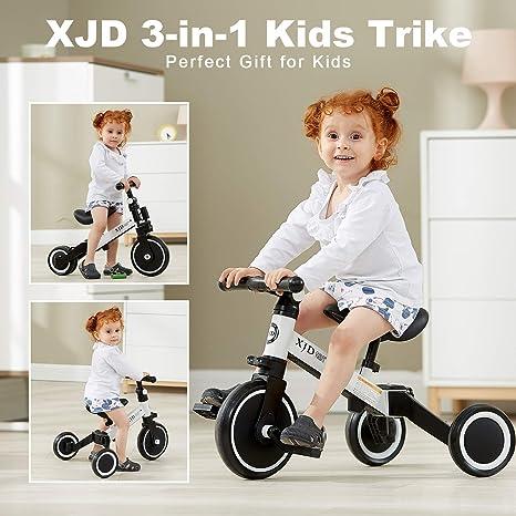 XJD Bicicleta 3 en 1 niños de 1,5 a 5 años de Edad, Triciclo de 3 ...