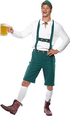 SmiffyS 39497M Disfraz De Fiesta De La Cerveza, Pantalones ...
