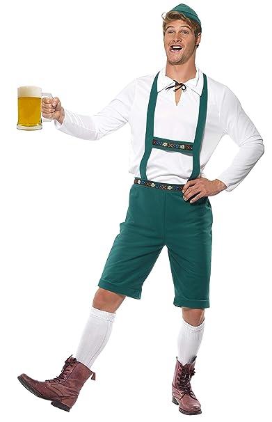 Disfraz  para OCTOBERFEST o Fiesta De La Cerveza para hombres, Pantalones Lederhose Con Tirantes.