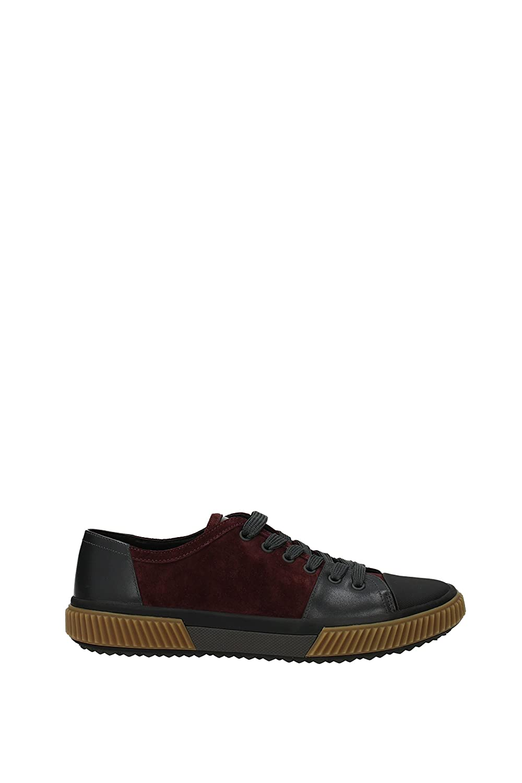 Prada Sneakers Hombre - Gamuza (4E3058SCAMOSCIATOVI) EU 9|Rojo