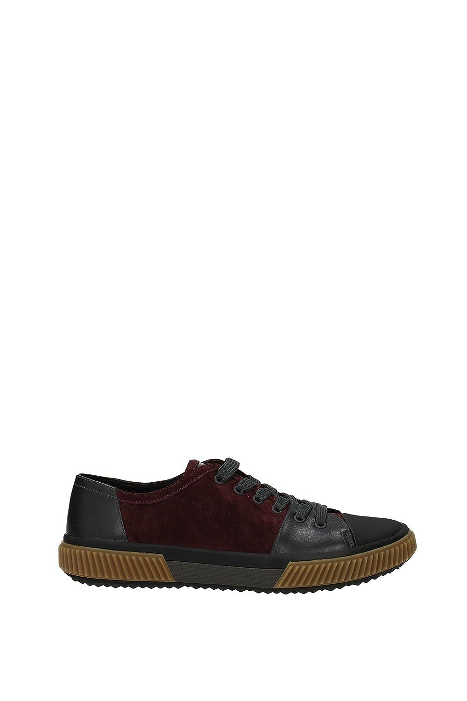 Prada Sneakers Hombre - Gamuza (4E3058SCAMOSCIATOVI) EU Rojo