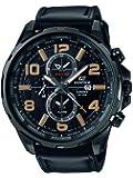 Casio - Montre Homme - EFR-302L-1AVUEF - Edifice - Quartz Analogique - Cadran Noir - Bracelet Cuir Noir