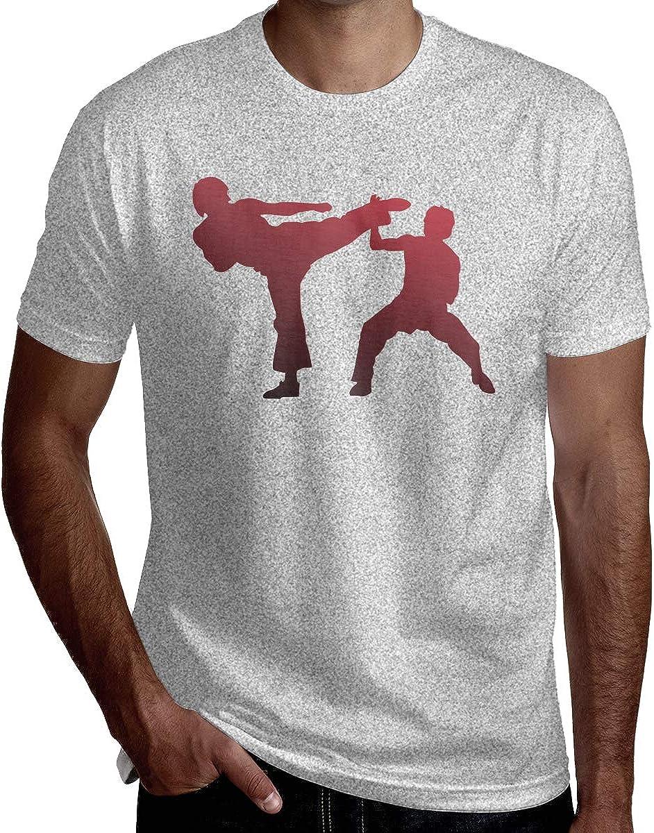 HRSHEN Custom Karate T-Shirt for Mens O-Neck Black