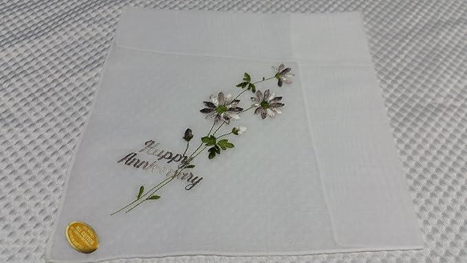 NOS vintage set of 3 handkerchief hankie  Switzerland Swiss embroidered  roses bridal gift box  new unused