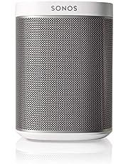 Sonos Play:1 Smart Speaker, weiß – Kompakter & kraftvoller WLAN Lautsprecher für unbegrenztes Musikstreaming – Feuchtigkeitsbeständiger Multiroom Lautsprecher